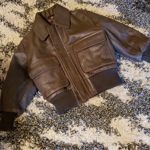 Jackets & Blazers - Boys 2T Brown Leather Coat